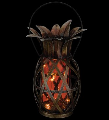 Solar Pineapple Lantern - Orange - Click to enlarge