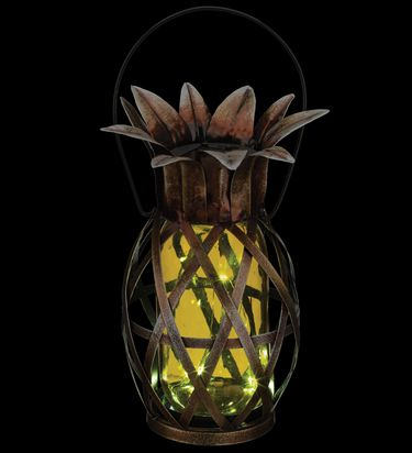 Solar Pineapple Lantern - Yellow - Click to enlarge