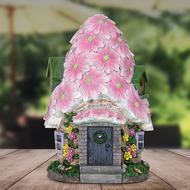Solar Pink Flower Roof House - Click to enlarge