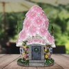 Solar Pink Flower Roof House