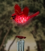 Solar Powered Cardinal Wind Chime