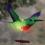 Solar Powered Hummingbird Wind Chime