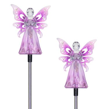 Solar Purple Angel w/LED Wings (Set of 2) - Click to enlarge