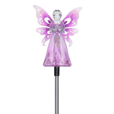Solar Purple Angel w/LED Wings - Click to enlarge