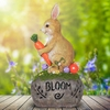 Solar Rabbit on Bloom Stone
