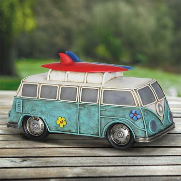 Solar Retro VW Bus Statue - Click to enlarge