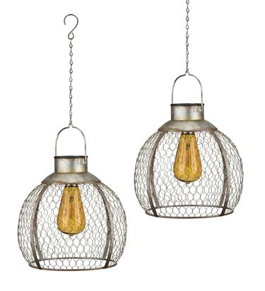 Solar Round Edison Lanterns (Set of 2) - Click to enlarge