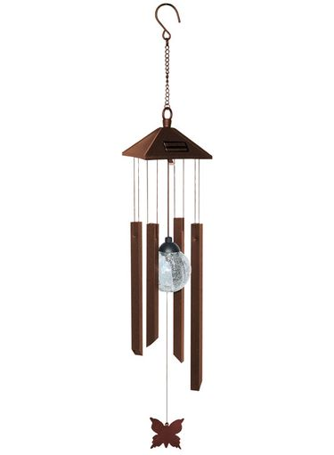 Solar Rustic Wind Chime - Click to enlarge