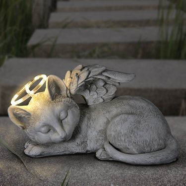 Solar Sleeping Cat Memorial - Click to enlarge