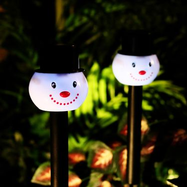 Solar Snowman Pathway Lights  (Set of 24) - Click to enlarge