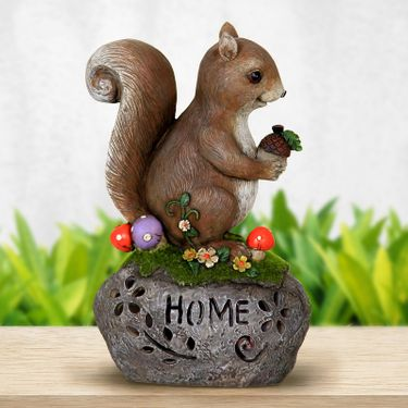Solar Squirrel on Home Stone - Click to enlarge
