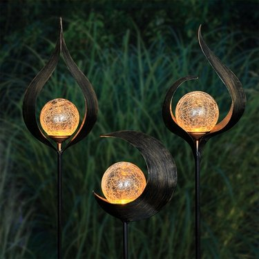 Solar Torch Garden Stakes (Set of 3) - Click to enlarge