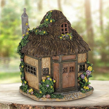 Solar Whimsy Thatch Cottage - Click to enlarge