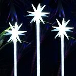 Solar White Motion LED Stakes (Set of 3)