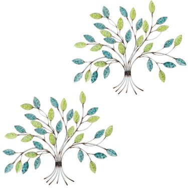 Spring Trees Metal Wall Decor (Set of 2) - Click to enlarge