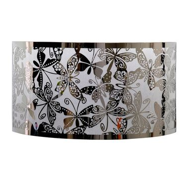 Stainless Steel Butterfly Pattern Sconce - Click to enlarge