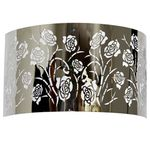 Stainless Steel Rose Pattern Sconce