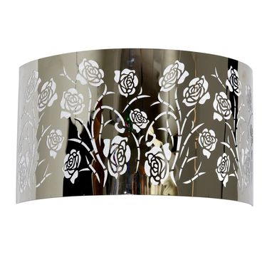 Stainless Steel Rose Pattern Sconce - Click to enlarge