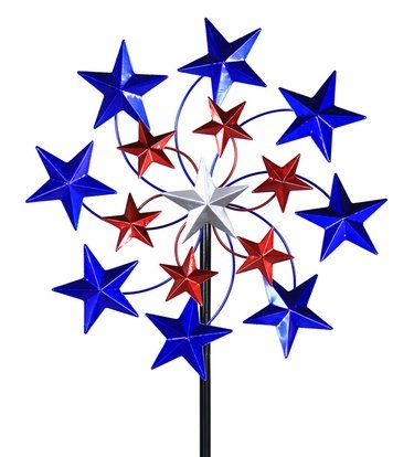 Star Spangled Wind Spinner Stake - Click to enlarge