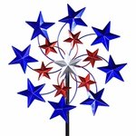 Star Spangled Wind Spinner Stake