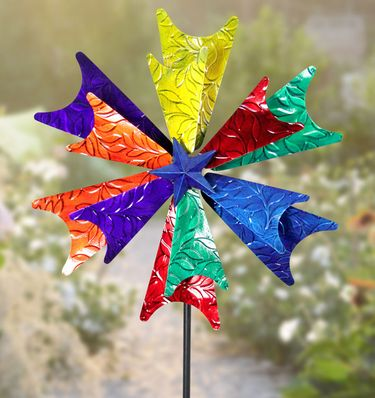 Colorful Starburst Wind Spinner - Click to enlarge