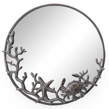Starfish & Crab Wall Mirror - Click to enlarge