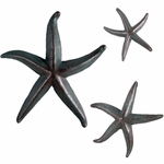 Starfish Decor (Set of 3) - Greenish Bronze