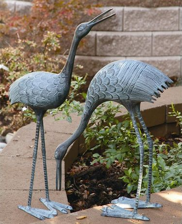 Stately Garden Cranes (Set of 2) - Click to enlarge