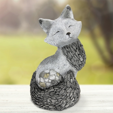 Stone Art Fox Statue - Click to enlarge