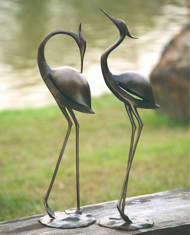 Stylized Garden Herons Decor (Set of 2) - Click to enlarge