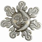 Sun & Moon Half Face Wall Art Plaque