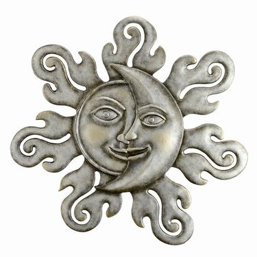 Sun & Moon Half Face Wall Art Plaque - Click to enlarge