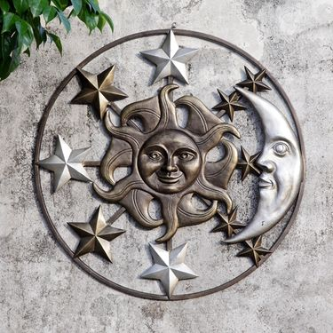 Sun Moon & Stars Wall Art Decor - Click to enlarge