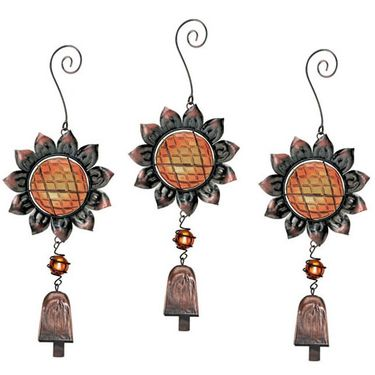 Sunflower Bell Adornment (Set of 3) - Click to enlarge