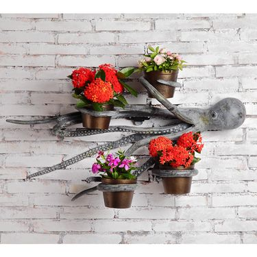 Swimming Octopus Wall Planters - Click to enlarge