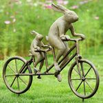 Tandem Bicycle Bunnies Garden