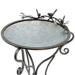 """Three Birds"" Galvanized Birdbath"