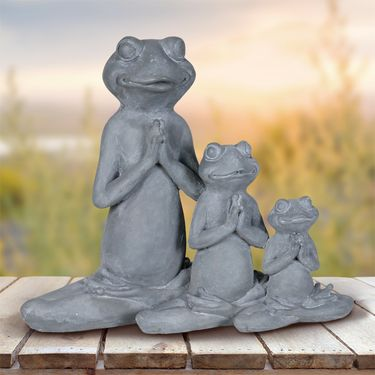 Three Meditating Yoga Frogs - Click to enlarge