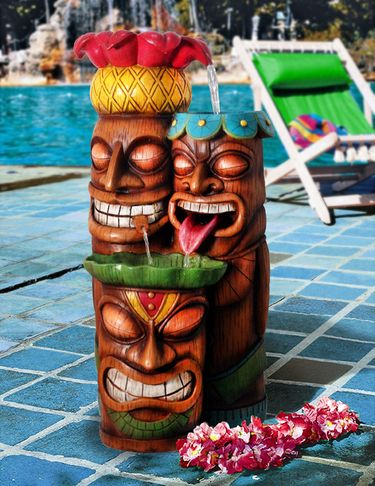 Tiki Party Outdoor Fountain - Click to enlarge
