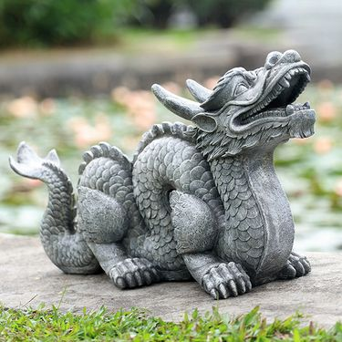 Traditional Dragon Garden Sculpture - Click to enlarge