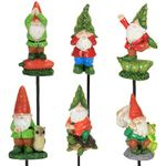 Veg-Head Gnome Pot Stakes (Set of 6)