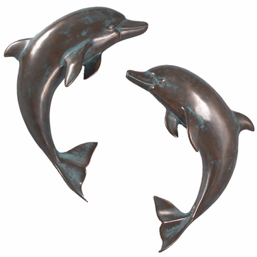 Verde Bronze Dolphin Wall Decor (Set of 2) - Click to enlarge