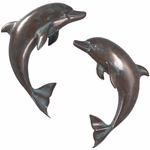Verde Bronze Dolphin Wall Decor (Set of 2)