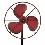 Vintage Fan Stake Spinner - Red
