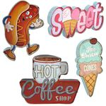 """Vintage-Style Restaurant"" Lighted Wall Signs (Set of 6)"