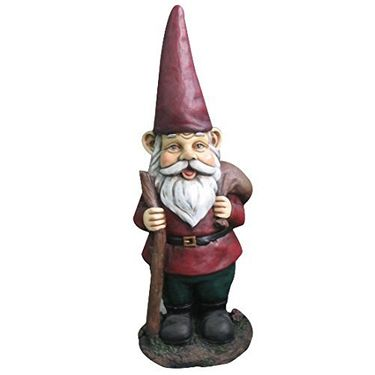 Garden Gnome with Walking Stick - Click to enlarge