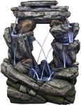 Water Dance Rock Fountain w/LED Lights