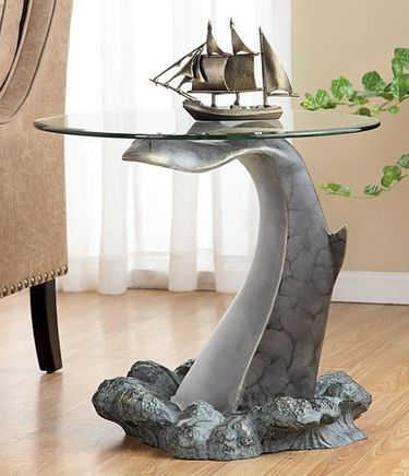 Whale's Tail End Table - Click to enlarge