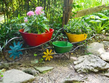 Colorful Wheelbarrow Planters (Set of 3) - Click to enlarge