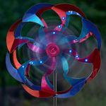 Wind-Powered LED Light Spinner: Pink & Blue